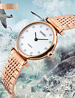 Women's Men's SKMEI Quartz Wristwatches Classic Diamond Bracelet Girl Luxury Fashion Ladies Watches 30M Waterproof Clock Relogio