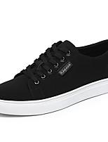 Da uomo Sneakers Comoda Di corda Primavera Quotidiano Casual Bianco Nero Piatto