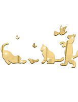 3D Wall Stickers Wall Decals Style Play Cute Cat Mirror Wall Stickers
