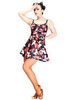 Latin Dance Dresses Women's Performance Viscose 1 Piece Sleeveless