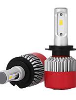 2pcs 12V H7 CSP LED Car Headlight Kit Car Headlighting Auto Replacing Xenon Bulbs H7 Head Lamps LED Chips Auto Led Headlight