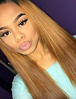 Ombre T1B/30 Full Lace Human Hair Wigs Silky Straight with Baby Hair 130% Density Brazilian Virgin Hair Glueless Lace Wig for Woman