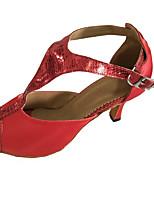 Women's Latin Sandal Heel Open Toe Salsa Dance Shoe Customizable