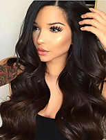 Full Lace Human Virgin Hair Natural Color Body Wave Wig with Baby Hair for Black Women