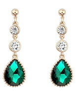 Euramerican Fashion Droplets Luxury Elegant Rhinestone Gemstone Temperament  Drop Earrings Lady Party Drop Earrings Movie Jewelry