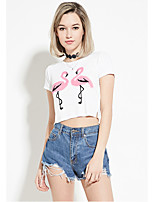 Amazon ebay AliExpress Europe explosion models cultivating wild flamingo T-shirt casual short paragraph lo shi