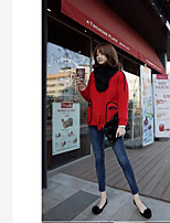Women's Casual/Daily Vintage Regular Cardigan,Solid Round Neck Long Sleeve Others Winter Thick Inelastic