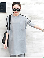Women's Going out Casual/Daily Simple Active Summer Fall Hoodie Pant Suits,Solid Round Neck Short Sleeve strenchy