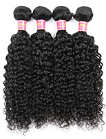 4 bundles Brazilian Virgin Remy Hair Kinky Curly Human Hair Weave Extensions 400g