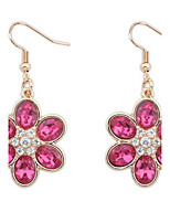 Euramerican Classic  Friendship Bright  Rhinestone  Flowers Pop  Earrings Lady DailyDrop Earrings Movie Jewelry