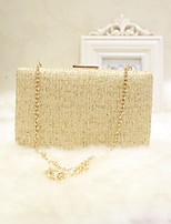 Women Evening Bag PU All Seasons Event/Party Party & Evening Club Baguette Magnetic Dark Brown khaki