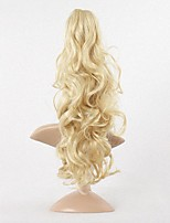 New Synthetic Women Claw on Ponytail Clip in Pony Tail Hair Extensions Curly Style Hairpiece Blonde Hair Ponytail.