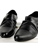 Men's Loafers & Slip-Ons Comfort Nappa Leather Cowhide Spring Casual White Black Coffee Flat