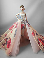 Party/Evening Dresses in Pink Purple For Barbie Doll For Girl's Doll Toy