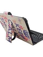 Ipad case с клавиатурой usb английская версия 7-8 дюймовое универсальное слово / фраза цветок pu кожаный чехол для ipad mini123 mini4