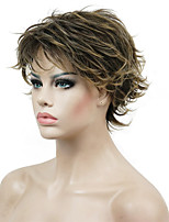 Women's Short Straight Hair wig Layered Messy Hairstyles Synthetic Full Wigs