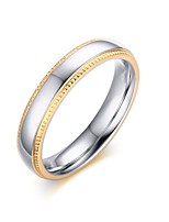 Women's Ring Vintage Simple Style Titanium Steel Gold Plated Jewelry For Wedding Party Anniversary