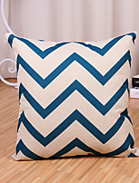1 Pcs Modern Style Blue Wave Stripe Pillow Cover Cotton/Linen Pillow Case