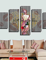 Stampe artistiche Retrò,Cinque Pannelli Orizzontale Stampa Decorazioni da parete For Decorazioni per la casa