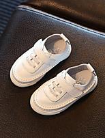 Kids' Baby Sneakers Cowhide Spring Fall Flat Heel White Under 1in