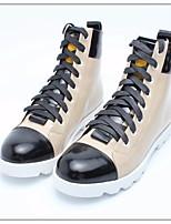 Women's Boots Comfort PU Spring Casual Comfort Khaki Flat