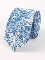 Men's Casual Fashion Personality Denim Cashew Flowers Printed Tie