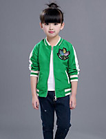 Girls' Solid Color Jacket & Coat Spring
