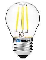 BRELONG Dimming G45 E27 4W 4LED 300LM Antique Filament Lamp Warm White / White AC22OV Transparent Bulb Light