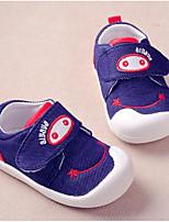 Девочки На плокой подошве Обувь для малышей Деним Весна Осень Повседневные Для прогулок Обувь для малышей На липучках На низком каблуке