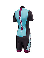 Tri Suit Women's Short Sleeve Bike Triathlon/Tri SuitAnatomic Design Moisture Permeability Front Zipper High Breathability (>15,001g)