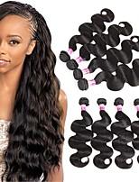 Tissages de cheveux humains Cheveux Brésiliens Ondulation naturelle 1 An 4 Pièces tissages de cheveux