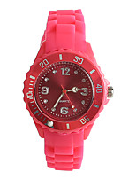Women's Fashion Watch Japanese Japanese Quartz / Silicone Band Casual Pink