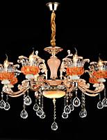 Luci Pendenti Lega di zinco caratteristica for Cristallo Stile Mini Metallo Sala da pranzo Al Coperto Ingresso 8 lampadine