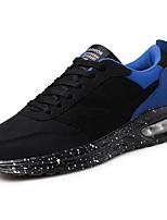 Homme Chaussures d'Athlétisme Polyuréthane Printemps Automne Marche Combinaison Talon Plat Bleu de minuit Noir/blanc Noir / bleu. 5 à 7 cm