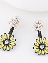 Women's Stud Earrings Euramerican Fashion Alloy Flower Daisy Jewelry For Daily 1 Pair
