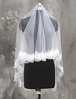Wedding Veil One-tier Fingertip Veils Tulle Netting