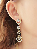Drop Earrings Women's Girls' Euramerican Round Elegant Rhinestone Alloy  Earrings Movie Party Daily Casual Jewelry