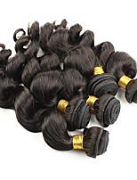 Tissages de cheveux humains Cheveux Péruviens Ondulation naturelle 6 Mois 1 Pièce tissages de cheveux