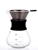 CAFEDE KONA Hand-dripping Glass Coffee Funnel Share Pot
