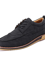 Men's Oxfords Comfort Microfibre Pigskin Spring Summer Casual Office & Career Outdoor Comfort Flat Heel Black Brown Khaki Flat