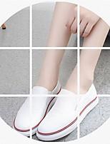 Для женщин На плокой подошве Удобная обувь Полиуретан Весна Повседневные Удобная обувь На плоской подошве Белый На плоской подошве