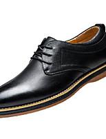 Men's Sneakers Comfort Cowhide Spring Casual Black Brown Flat
