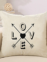 1 Pcs LOVE With Arrows Pattern Quotes & Sayings Printing Pillow Cover Creative Sofa Cushion Cover Pillow Case