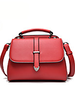 Women Tote PU All Seasons Formal Casual Event/Party Wedding Office & Career Shell Snap Blushing Pink Red Black White