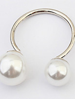 Euramerican Fashion Silver Pearl Cuff  Rings Simple Style Elegant  Women's Daily Rings  Jewelry Gifts