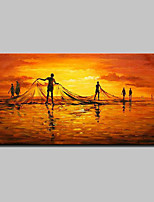 Large Hand Painted Modern Abstract Net Fishing Oil Painting On Canvas Wall Art Picture For Home Decoration Ready To Hang