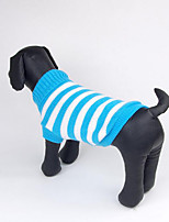 Dog Sweater Dog Clothes Casual/Daily Stripe Blushing Pink Blue Green