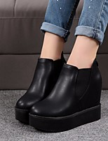 Women's Boots Light Up Shoes PU Office & Career Casual Black