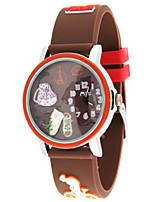 Женские Модные часы Кварцевый силиконовый Группа Коричневый Зеленый Фиолетовый