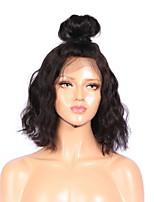 Perucas cheias de renda cabelo curto cabelo humano onda natrual para mulheres dia de verão